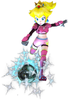 Princess Peach Test render (Mario Strikers Charge) by Luigimariogmod