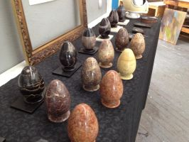 Stone~Egg Containers Ready to be Etched by Mark-D-Powers