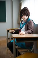 kyonko seated in a classroom by cocoa-box