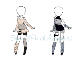 Naruto Outfit Adopts 4 (CLOSED) by SpringPeachAdopts