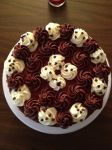 Top of Brownie Cake by Deathbypuddle