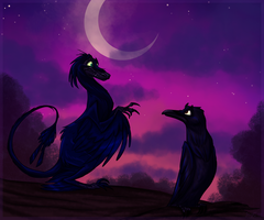 Of Dragon and Faerie and Shades of the night by JaylacineChiboa