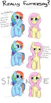 Really Fluttershy? by Drawing-Heart