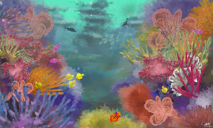 Prompt day 18 - Coral reef by ZiryAlex