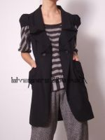 Black Virgin Wool Vest 4 by yystudio