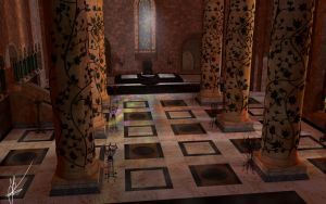 Game of Thrones: Throne room by Nieuwus