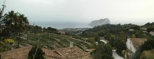 Inland view to Calpe by BlokkStox
