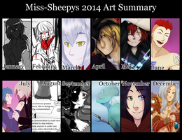 2014 Art Summary by Miss-Sheepy