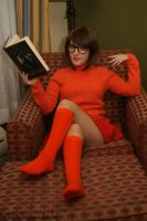 Velma Dinkley: Book In Hand by HarleyTheSirenxoxo
