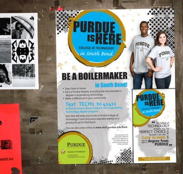 Purdue Advertisement Poster by Alley9