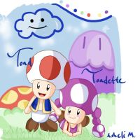 Toad and Toadette by Ash-Mos