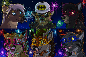 New Years 2013 Icons by MidnightAlleyCat