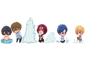 Free! chibi fan mail by Celerere