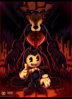 BENDY AND THE INK MACHINE full art by eliana55226838