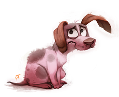 Day 528. Courage the Cowardly Dog by Cryptid-Creations