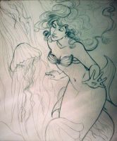 New Mermaid WIP by kara-lija
