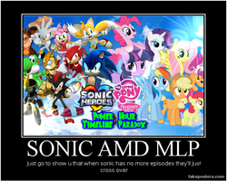 sonic and mlp by tanya938
