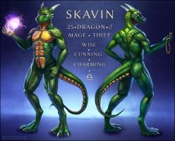 Skavin Reference Sheet by Red-IzaK