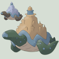 Legendary Fakemon Atlantoise by mssingno