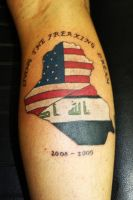 Irag and USA tattoo by Shadowtat