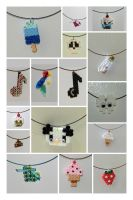 Beads necklaces and charms by JadeDragonne