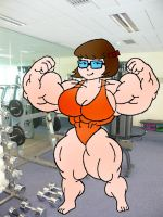Velma at the Gym by zatchbell19