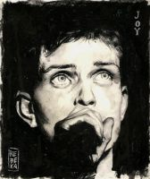 JOY: portrait of Ian Curtis. by Shinigami-uta