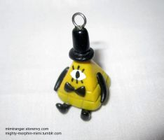 Bill Cipher Charm by Mighty-Morphin-Mimi