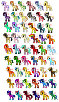 MLPFiM Adoptables by xXYoiteShindouXx