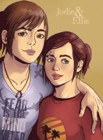 Jodie and Ellie by LadyDeadPooly
