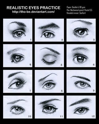 Realistic eyes practice by tho-be