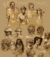 Zombies by taintedfeather
