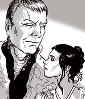 Uther and Young Morgana by infiniteviking