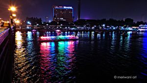 Cairo Egypt - Night on the Nile  121301 by meriwani