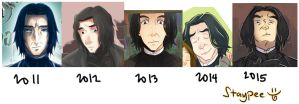 My Snape through the years by staypee