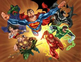 The Classic Justice League by JUANCAQUE