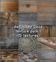 Distressed Wood Texture Pack by AscendedArts