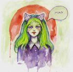 Watercolor/MEOW by Marsellia