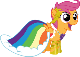 Scootaloo Rainbow dashs Dress by BaronBronie