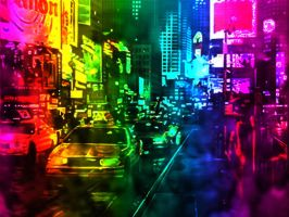 New York - Rainbow by pixelpixel