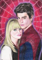 Peter and Gwen drawing - 2013 by andrecamilo20
