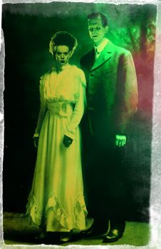 the wedding frankie and his bride by Ghoulgirl1976