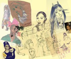 Collage of sketches by olive-tea