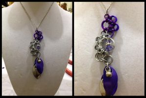 Purple Fading Octopus Necklace by NikidaEve