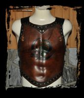 Leather armor  Berserk  chest by Lagueuse