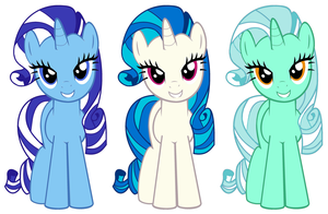 Background Unicorns with Rare Hairs by 3D4D