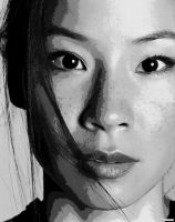 Lucy Liu Paint By NUmber Art Kit by numberedart
