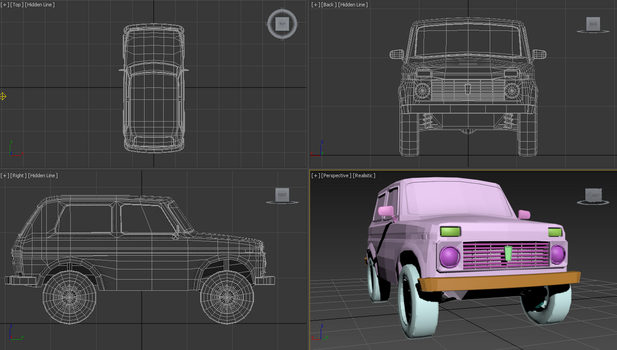 Lada Niva lowpoly WIP by chrbet