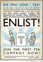 tea enlistment propaganda by fetishman