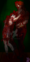 Bloody Bubba and Heather by Ynnep